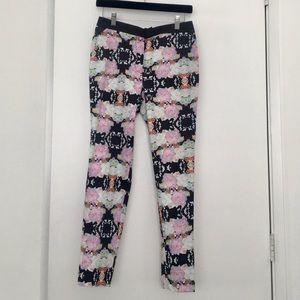 NWT H&M floral print trouser pant size 6